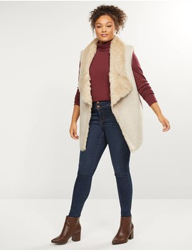Ribbed Turtleneck Top by Lane Bryant