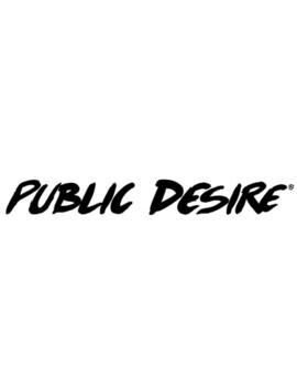 Black Drop Shoulder Cropped Slogan T Shirt by Public Desire