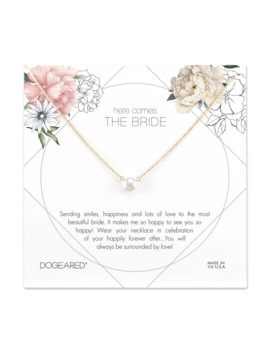 Here Comes The Bride Flower Card, Small Button by Dogeared