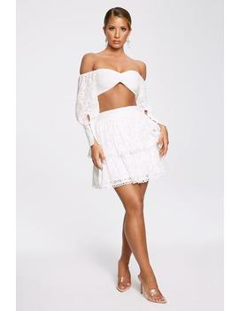 Christabelle Ra Ra Mini Skirt   White by Meshki