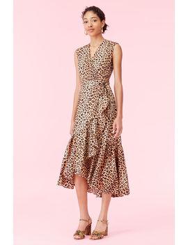 Leopard Print Wrap Dress by Rebecca Taylor