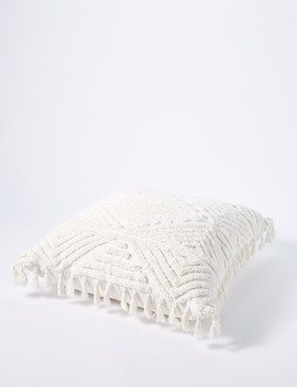 Tilly@Home Maeve Tuffted Cushion, Ivory by Farmers