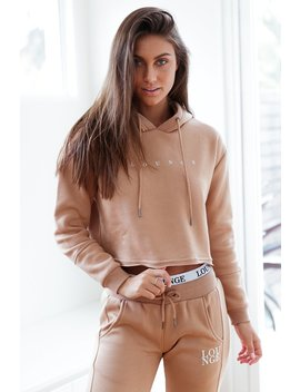Sand Cropped Hoody by Lounge