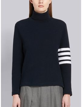 4 Bar Compact Waffle Turtleneck by Thom Browne