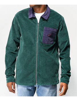 odd-future-colorblock-green-&-purple-corduroy-jacket by odd-future