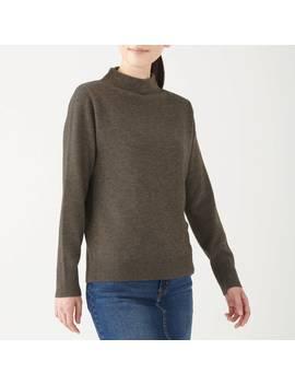 Yak Wool Mix Mock Neck Sweater by Muji