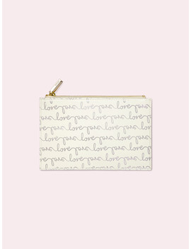 Love Pencil Pouch by Kate Spade