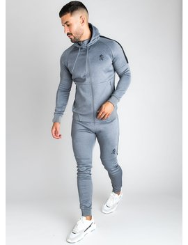 Gk Core Plus Poly Tracksuit Top   Charcoal Marl by The Gym King