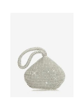 Rhinestone Water Drop Clutch Bag by Dress Lily