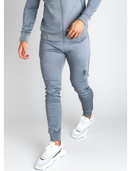 Gk Core Plus Poly Tracksuit Bottoms   Charcoal Marl by The Gym King