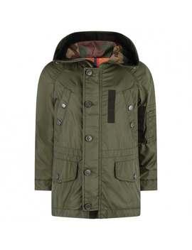 Boys Khaki Lestat Jacket by Moncler