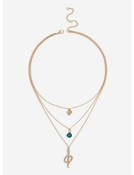 Snake Layered Necklace by Miss Selfridge