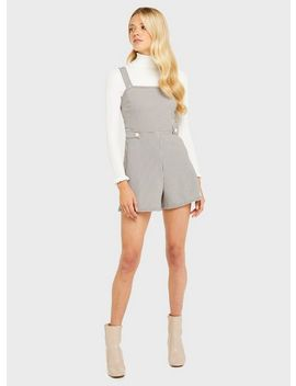 Pale Pink Button Tab Pinafore Playsuit by Miss Selfridge