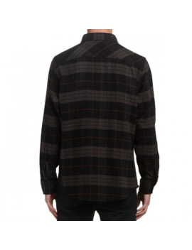 Brixton Bowery Long Sleeve Flannel Shirt   Black/Charcoal by Ccs