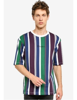 Prolific Stripe Oversized T Shirt by River Island