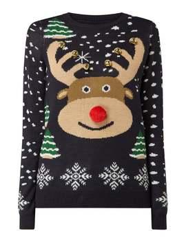 Pullover Mit Weihnachtsmuster by Vero Moda