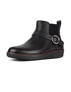 Buckle Leather Chelsea Boots by Bria