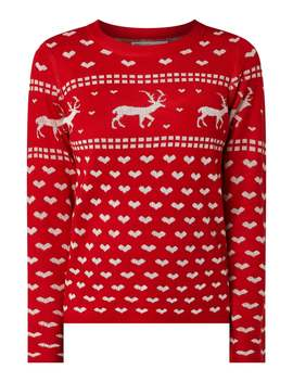 Pullover Mit Weihnachtsmuster by Only