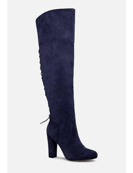 Cassandra Heeled Boot by Justfab