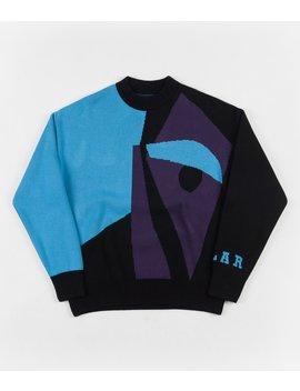 Polar Art Knit Sweatshirt   Selfie / Black by Polar