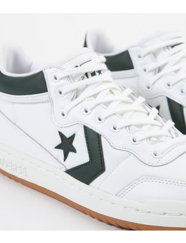 Converse Fastbreak Pro Mid Leather Og Block Shoes   White / Deep Emerald / Gum by Converse