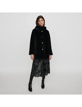 Reversible Hooded Lambswool by Maje