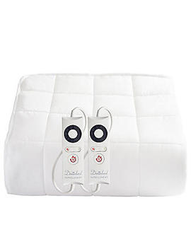 Dreamland King Size Dual Control Heated Mattress Protector Quilted Cotton by Lakeland
