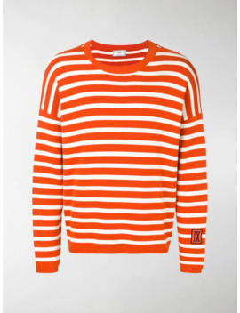 Striped Patch Sweater by Ami Paris