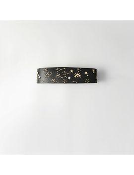 High Waisted Studded Leather Belt by Maje