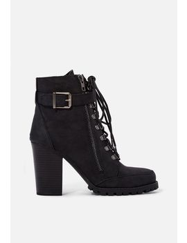 Pracida Lace Up Ankle Bootie Vip Membership Program by Justfab