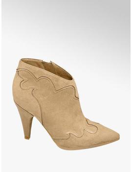 Rita Ora Star Collection Beige Western Heels by Star Collection