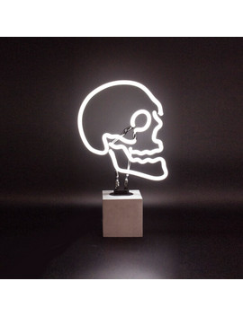 Skull Neon Light   Concrete Base by Iwoot