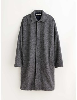 Officer's Coat In Wool Chevron by Alex Mill