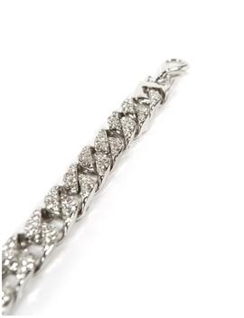 Silver Diamante Chain Anklet by Public Desire