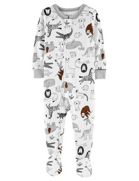 Carter's          1 Piece Animals Snug Fit Cotton Footie P Js by Carters