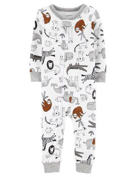 Carter's          1 Piece Animals Snug Fit Cotton Footless P Js by Carters