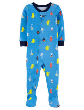 Carter's          1 Piece Robot Snug Fit Cotton Footie P Js by Carters
