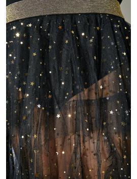 Asoph Plus Size Starry Night Ruffle Skirt by Asoph