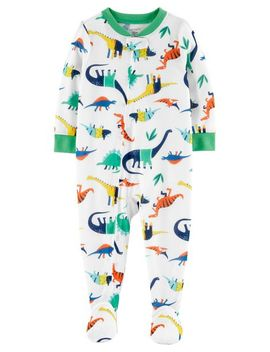 Carter's          1 Piece Dinosaur Poly Footie P Js by Carters