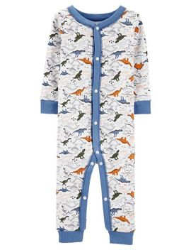 Carter's          1 Piece Dinosaur Snug Fit Cotton Footless P Js by Carters