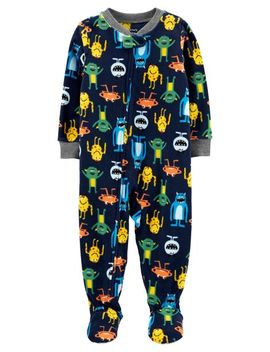 Carter's          1 Piece Monster Fleece Footie P Js by Carters