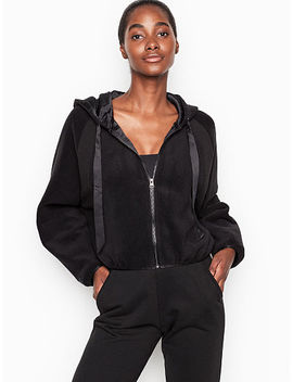 New! Cropped Fleece Hoodie by Victoria's Secret