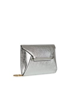 Envelope Pouch   Metallic Silver by Strathberry