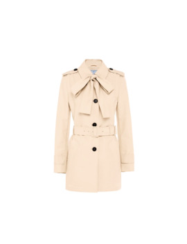 Technical Poplin Trench Coat by Prada