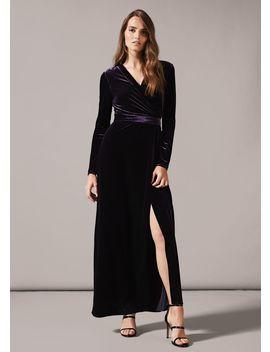 Valeria Velvet Wrap Dress by Phase Eight