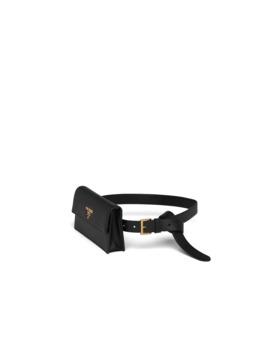 Saffiano Leather Belt With Mini Bag by Prada