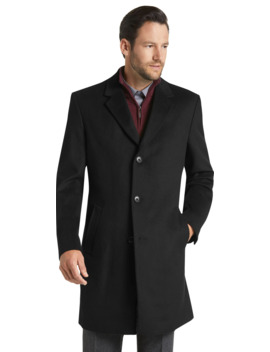 Joseph A. Bank Tailored Fit Wool Blend Topcoat  by Jos. A. Bank