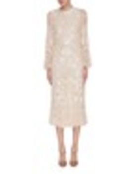 'snowdrop' Sequin Embellished Embroidered Dress by Needle & Thread