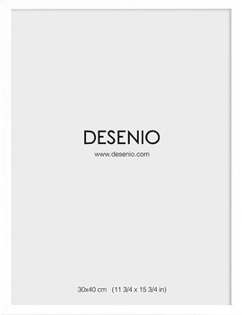 White Picture Frame, 30x40 by Desenio