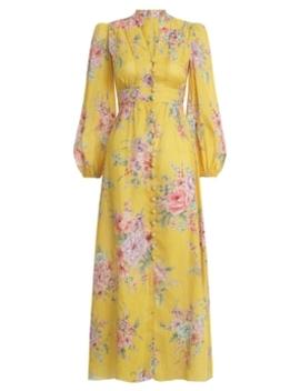Zinnia Button Down Long Dress by Zimmermann
